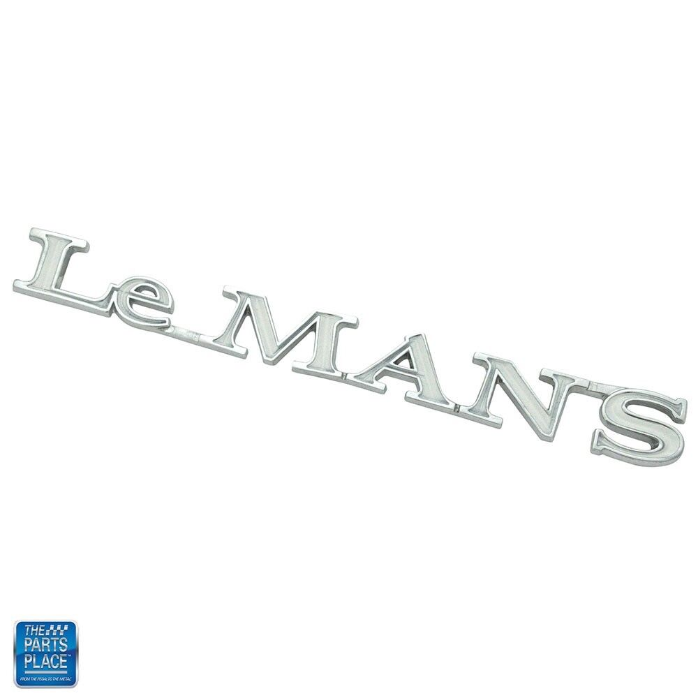 1970LeMans Quarter Panel Emblem Chrome White EA