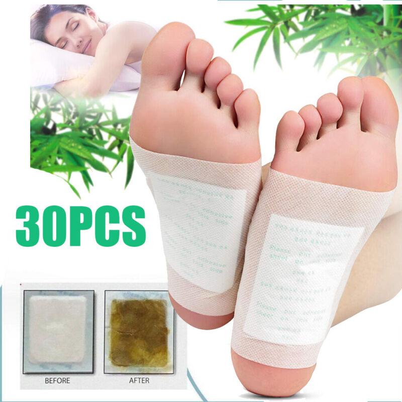 30Pcs Detox Foot Pads Patch Detoxify Toxins Adhesive Help Sleep Keep Fit
