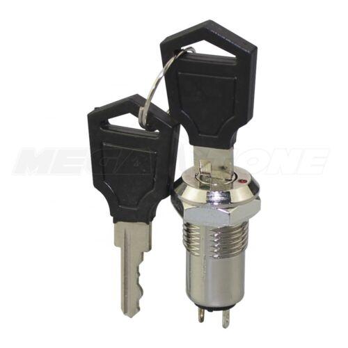 12mm SPST Chrome Electronic Security Key Switch ON/OFF Two Keys KS-01 -USA STOCK