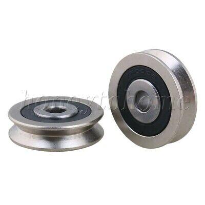 2p Steel V Groove Sealed Ball Bearing Pulley Wheel Roller Guide For Garage Door