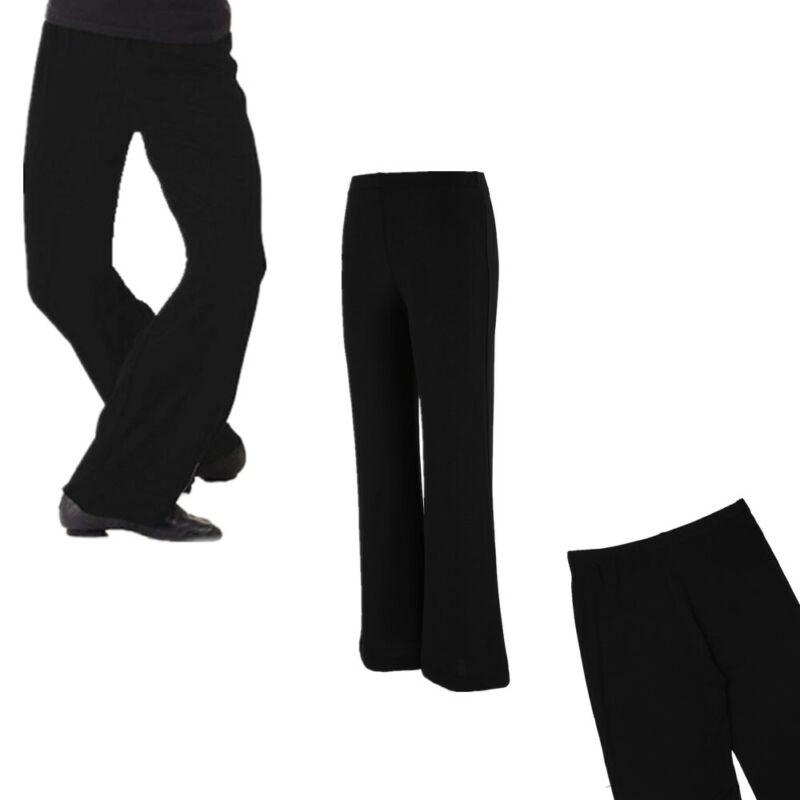 Kids Girls Boys Classic Boot Cut Jazz Pants Lycra Spandex Gymnstics Dance Pants