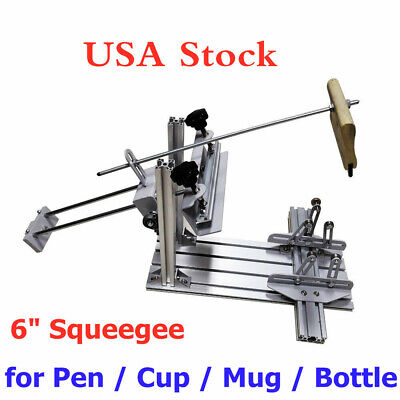 Usa Cylinder Screen Printing Machine 6 Squeegee For Pen Cup Mug Bottle