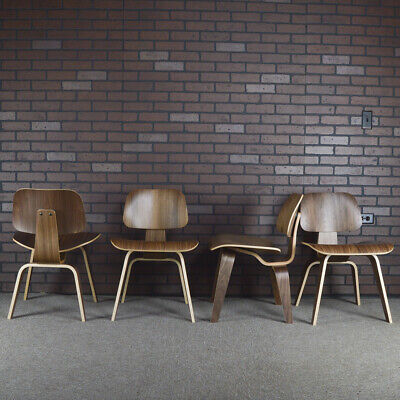 Eames for Herman Miller DCW Plywood Dining Chairs - Walnut (set of 4)
