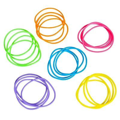 144 RAINBOW NEON JELLY BRACELETS,PARTY FAVOR, PINATAS, GOODY BAGS, CARNIVALS - Neon Bracelets