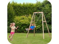 Plum Wooden Single Swing Set Brand New Boxed & Sealed Brand New Excess Leading Supermarket Stock