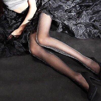 Silver Tights (Quality Shiny Pantyhose Silver Glitter Stockings Women Glossy Tights)