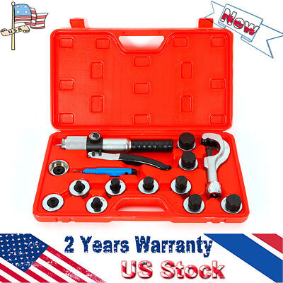 Us 11 Lever Hydraulic Tube Cutter Expander Tubing Swaging Expanding Tool Red Box