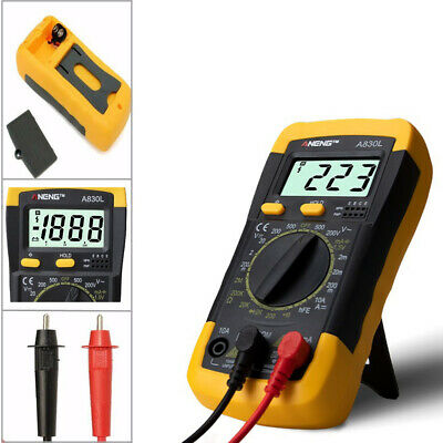 Testek-830 Digital Lcd Multimeter Ammeter Ohmmeter Voltmeter Acdc Tester Meter