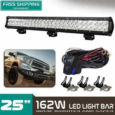 "Led Work Light Bar 25inch 162W Slim Dual Row For Ford Strobe VS Dual Row 24""26"""