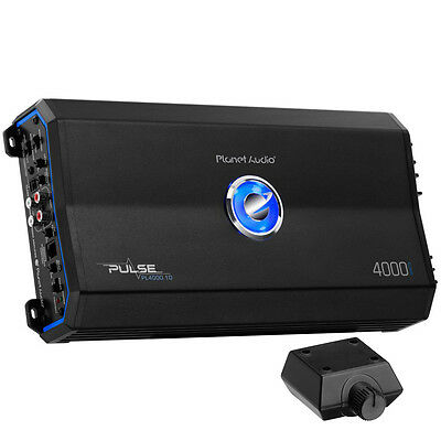 Planet Audio 4000W Class D Monoblock MOSFET 1 Ohm Car Audio Amplifier PL4000.1D