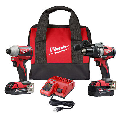 Milwaukee 2893-22CX M18 18-Volt 2-Tool 3-Speed Drill and Impact Driver Combo Kit