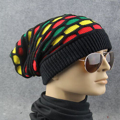 Wholesale Winter Warm Women Men's Triangle Slouchy Knit Beret Beanie Hat Cap
