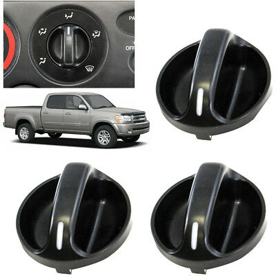 Climate Control Knobs - 3 Pack Quality AC Climate Control Knob Replaces Fits Toyota Tundra 55905-0C010