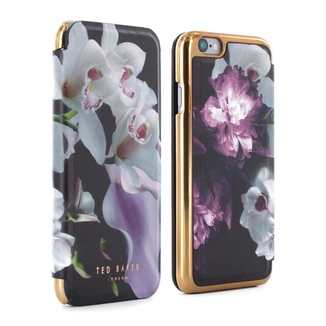 ORIGINAL TED BAKER MARIEL Mirror Luxury Leather Effect Case for iPhone 6/6S