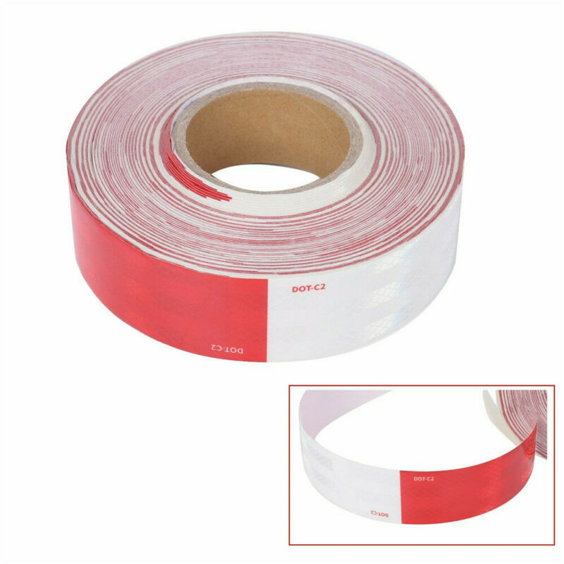 """Conspicuity Tape DOT-C2 Approved Reflective Trailer Red White 2""""x150' -1 Roll"""