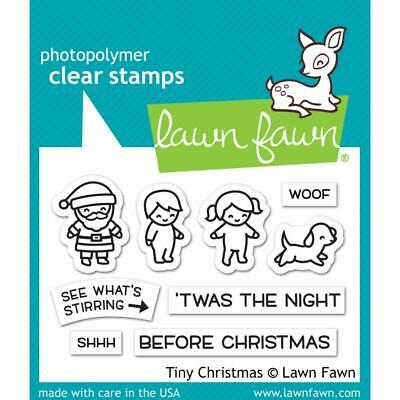 Scrapbooking Crafts LF Clear Stamp Set Christmas Santa Kids Stirring Night B4 ()