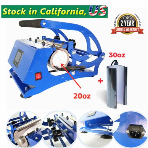 20oz / 30oz Skinny Straight Tumblers, Mugs Heat Press Transfer Machine 110V 550W