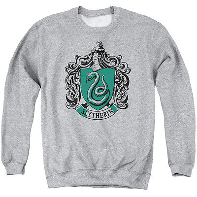 HARRY POTTER SLYTHERIN CREST Licensed Adult Pullover Crewneck Sweatshirt SM-3XL