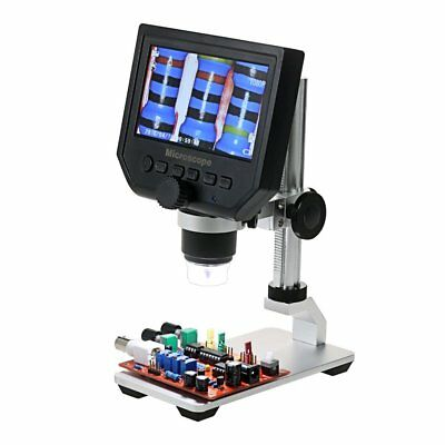 Microscope With Stand 4.3 Lcd Electron Led Screen 1-600x Usb For Pcb Soldering