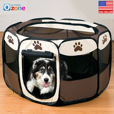 8 Panel Portable Puppy Dog Pet Cat Playpen Crate Cage Kennel Tent Play Pen 2018