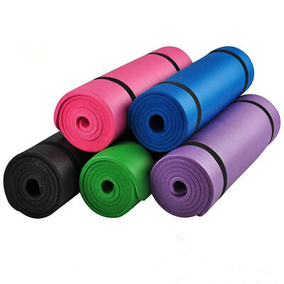 Extra Thick 72  X 24 X 0 6  15Mm  Npr Yoga Mat Pad Non Slip Durable Gym Pad