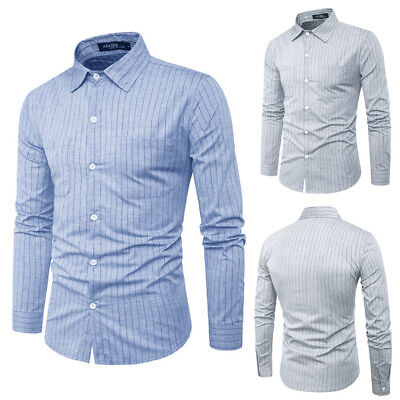 Usa Men Fashion Luxury Casual Slim Fit Stylish Dress Shirts Long Sleeve Shirt Yy
