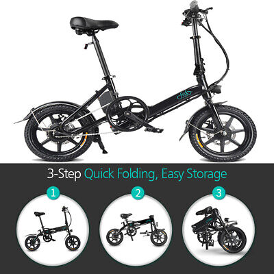 Fiido D1/D2/D3 Folding Electric Bicycle E-Bike 7.8Ah/10.4Ah 250W Power Assist
