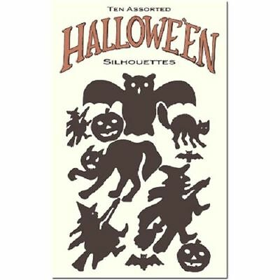 Halloween Inspired Party Decorations Silhouette Spooky Witch Cat Shapes - Spooky Halloween Party Decorations