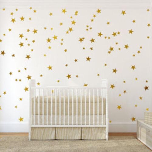 110pcs multi sized star wall stickers baby
