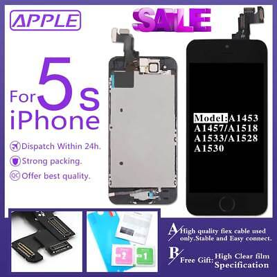 OEM For iPhone 5s LCD Touch Screen Digitizer with Home Button Camera Replacement