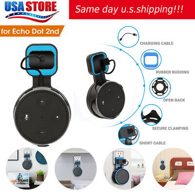 Outlet Wall Mount Hanger Holder Stand Bracket For Amazon Echo Dot 2Nd Generation