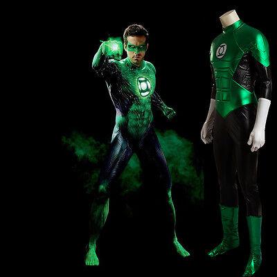 HZYM Green Lantern Cosplay Costume Full Suit Halloween
