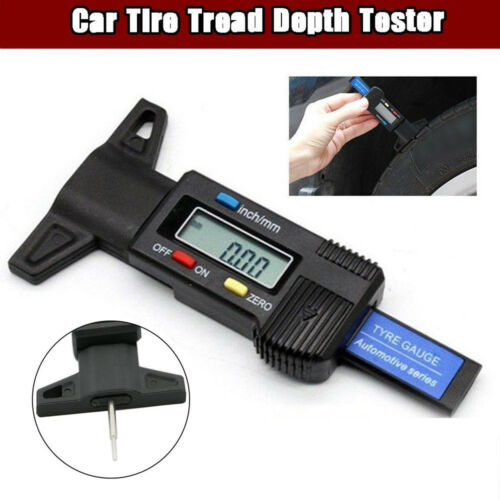 Digital Tyre Tread Depth Tester Gauge Checker Car Brake Safety Measuring Tool