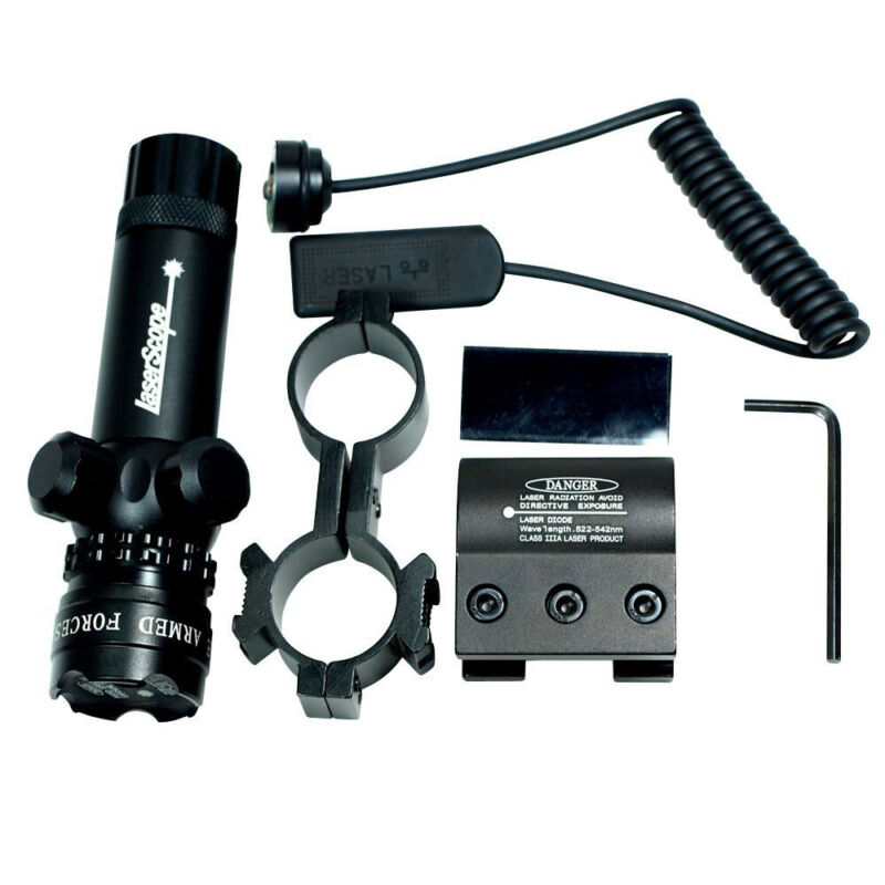 Hunting rifle Green Laser Sight Dot Scope Adjustable with 2 Switch - Mounts