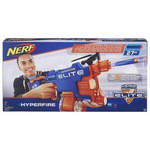 Nerf B5573EU4 N-Strike Elite Hyperfire Blaster Dart Toy Gun With 25 Elite Darts
