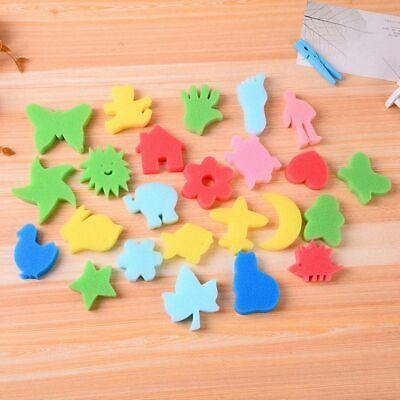 24pcs Kids Graffiti Sponge Toddler Art Supplies Brushes Seal Painting Tools - Toddler Art Supplies