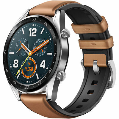 NEW Huawei WATCH GT FTN-B19 GPS Smartwatch (Saddle Brown) - Extensive Edition