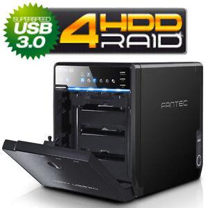NEU FANTEC QB-35US3R - 4 Fach USB3.0 + eSATA Festplatten Gehäuse / RAID Lüfter