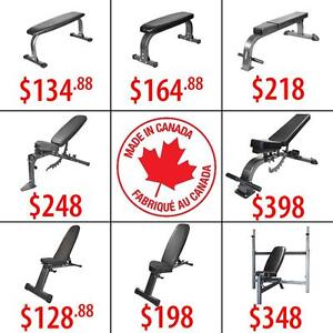 Olympic Plates | Flat Incline Decline Adjustable Folding Bench | Kettlebells | Rubber Hex Dumbbells | Chin Up Bars