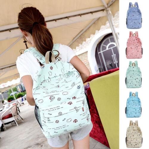 USA Women Backpack Canvas Travel Bookbags Rucksack School Ba
