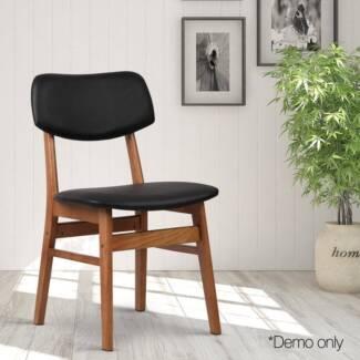 Set of 2 Replica Dining Chair Black/ Brown or Beige/Brown