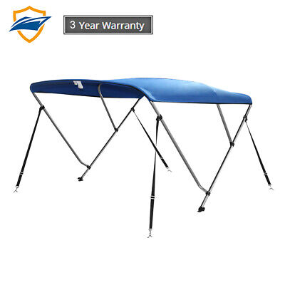"3Bow Bimini Boat Top Cover with storage boot, Pacific Blue, 6'L x 46""H x54""-60""W"