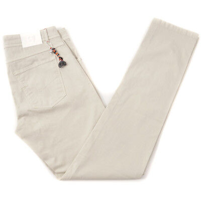 Five Pocket Lightweight Jeans (NWT $495 MARCO PESCAROLO Beige Lightweight Cotton Jeans 34 Five Pocket Pants )