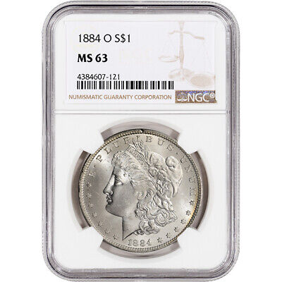 1884-O US Morgan Silver Dollar $1 - NGC MS63