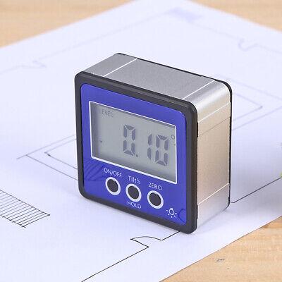 Digital Lcd Protractor Gauge Level Angle Finder Inclinometer Magnet Meter P4j4
