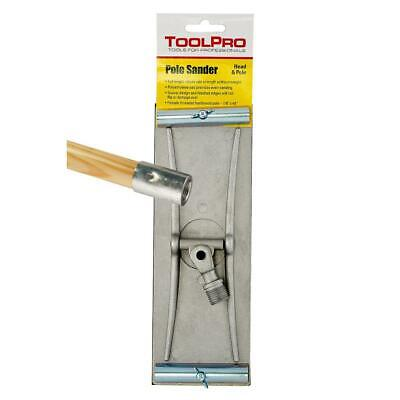 Toolpro Swivel Head Drywall Pole Sander Cordless Cast Aluminum Base Metallic New