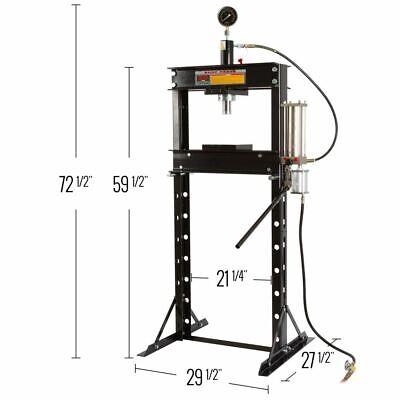 20 Ton Air Hydraulic Shop Press Garage Mechanic Floor