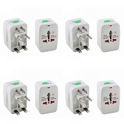 4-Pack International Travel Power Charger Universal Adapter Plug AU/UK/US/E International Power Pack
