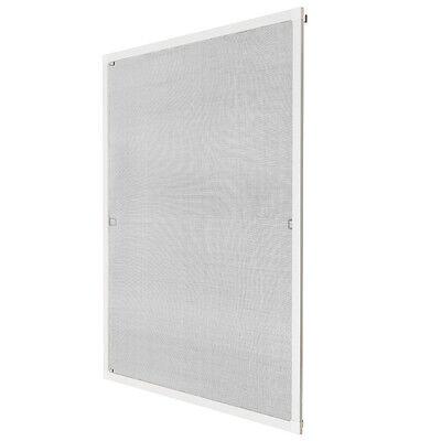 Insektenschutz Fliegengitter Fenster Alurahmen Alu Mückenschutz weiß 100x120cm