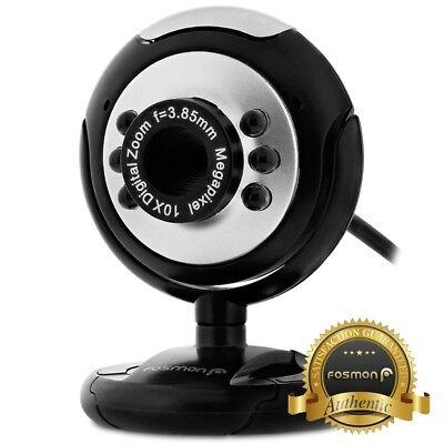 Fosmon 12MP LED USB Night Vision Mic Desktop PC Laptop Webcam Skype Cam Camera
